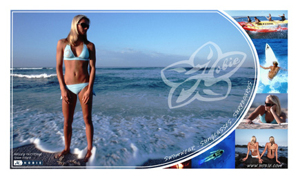 Hobie Ad with Hailey