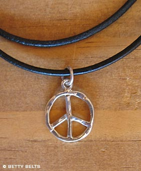 Hammered Peace Necklace