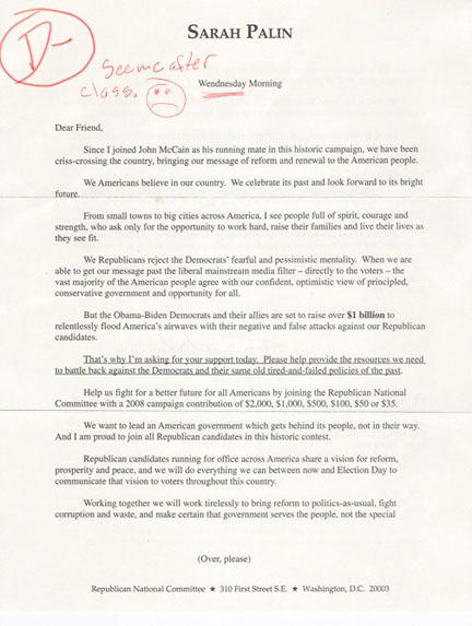 Sarah Palin Not Smarter Than a Third Grader