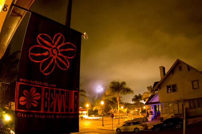 Fireworks viewed from the Betty B. Shop
