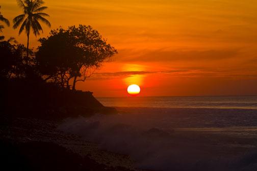 Sunset in Bali, copyright David Pu'u