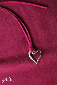 """Marie"" Sterling Wave Heart Necklace"