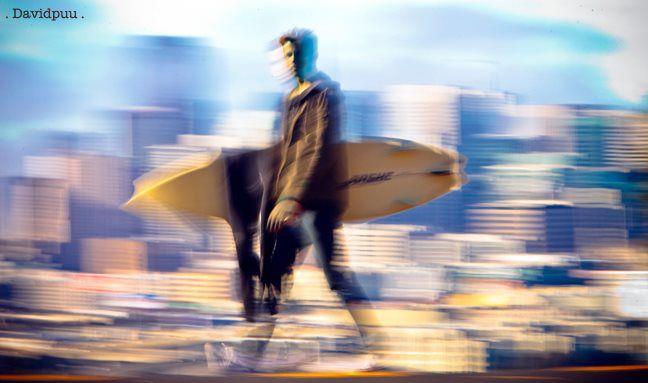 San Francisco Surfer Samuel Witmer by David Pu'u