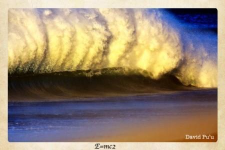 Offshore Santa Ana Blasting into a Wave