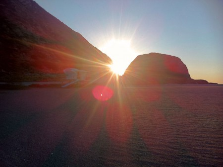Beach Sunrise at Mugu Rock, Ventura County
