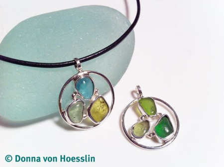 Sea Glass Trio Pendant