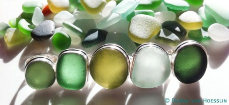 Italy Sea Glass Rings by Donna von Hoesslin for Betty Belts