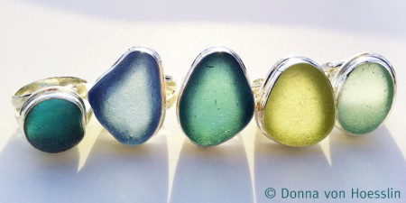 Genuine Sea Glass Rings