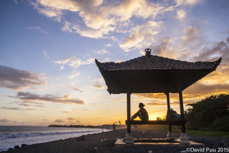 Soaking in the blessings of Bali's shores