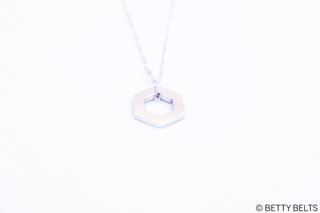Betty Bee Honeycomb Charm Pendant  in sterling
