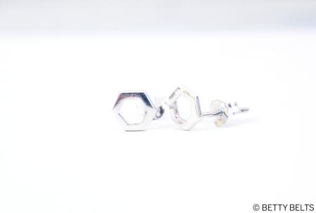 Betty Bee Honeycomb Stud Earrings in sterling